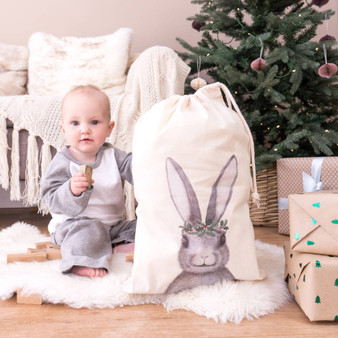 Winter Rabbit Christmas Sack