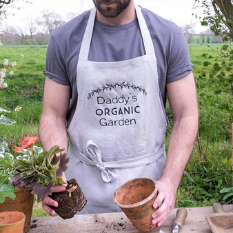 Daddys Organic Garden Linen Apron