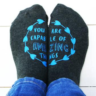 Printed Quote Socks