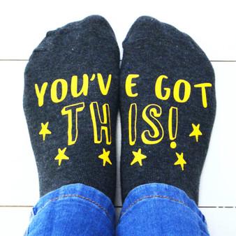 Positive Quote Socks