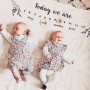 Botanical Twin Baby Milestone Blanket