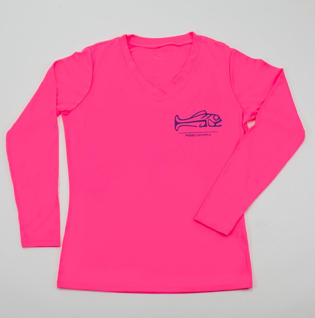 Pescadora Pink/Blue V-neck