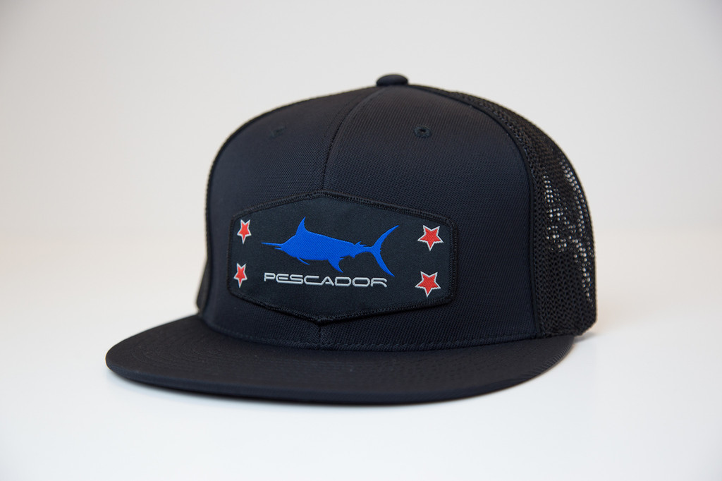 Blue Marlin Black Fitted