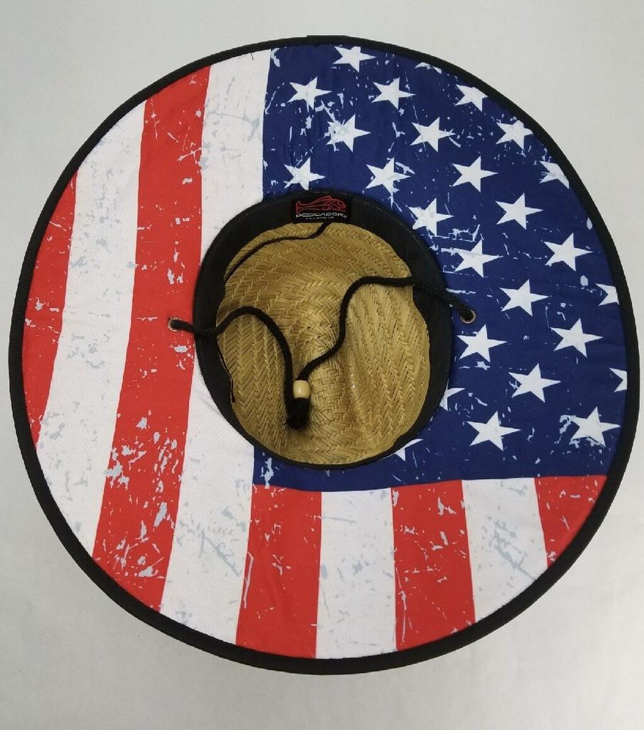 Fish Punk RWB Straw Sombrero/USA (OSFA)