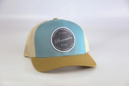 Luck hat Tan/blue snap back