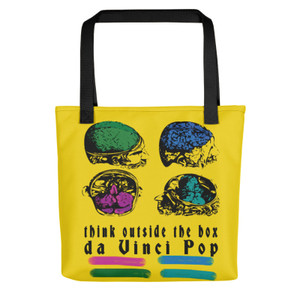 Think out side the box neoclassical pop art medical tote bag