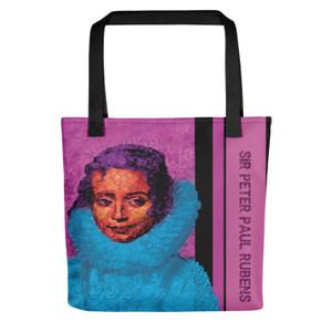 Sir Peter Paul Rubens Bella Isabella pink light blue Tote bag by Neoclassical Pop Art online designer brand store