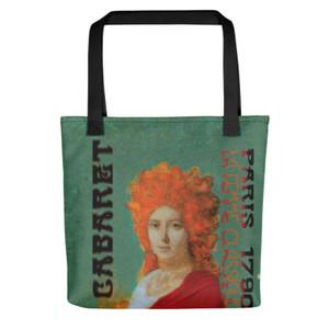 Jacques-Louis David Neoclassical trendy pop art Paris 1790 Cabaret green pink Tote bag