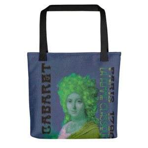 Jacques-Louis David Neoclassical pop art Paris 1790 Cabaret greenTote bag on sale online for woman and man