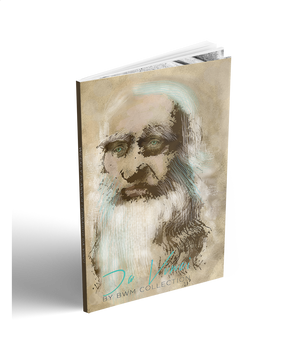"2018-19 planner,  2018-2019 desk calander- Collectible Leonardo Da Vinci self portrait ""Innovative Mind  cover art by bwm collection"