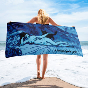 On Sale Eduard Manet  thin absorbent beach towels by Neoclassical Pop Art online store