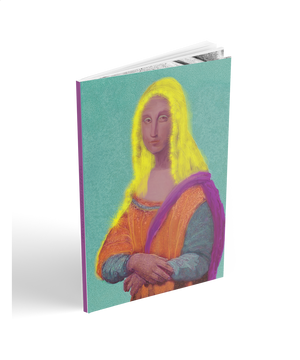 Academic year 2018-2019 mona lisa real painting weekly planner. Collectible Da Vinci appropriation pop art cover by BWM collection