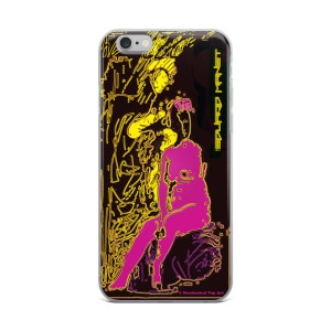 Pink Yellow Miniature Eduard Manet Neoclassical Pop Art iPhone Case by Neoclassical Pop Art