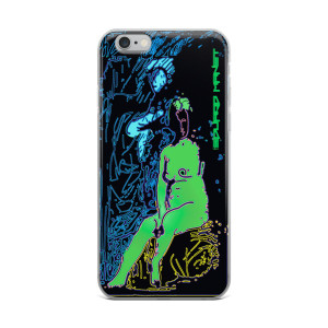 Blue Green Eduard Manet Nude iPhone cases by Neoclassical Pop Art