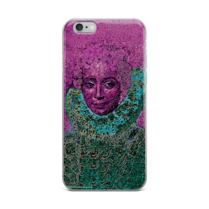 Pink green runens clara serna  neoclassical pop art iphone cases