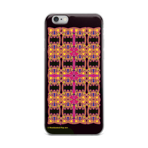 Leonardo da Vinci Neoclassical pop art Rose Cross geometric pattern iphone case