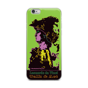 Leonardo da Vinci alexander the great lime green neoclassical pop art collectible iphone cases