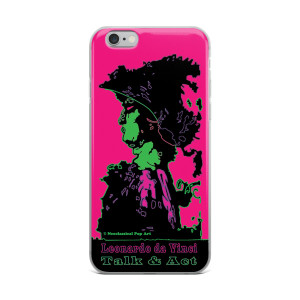 Neoclassical pop art Leonardo da vinci Sweet pink and green iphone case