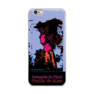 Lilac Pink Orange Alexander the Great Portrait Iphone Case. The best  Iphone Cases by Leonardo da Vinci. Collectible Neoclassical Pop Art.