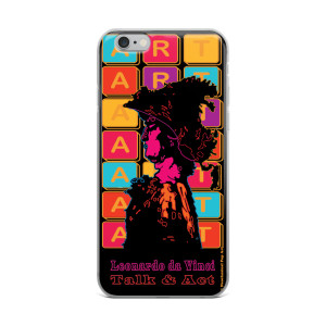 Neoclassical pop art Leonardo da vinci warrior creative iphon case  for sale