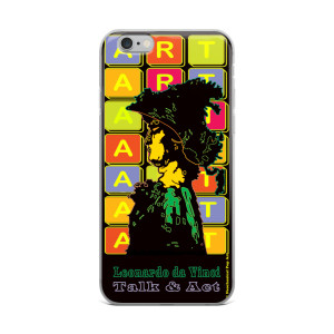 Neoclassical pop art Leonardo da vinci warrior creative iphon case