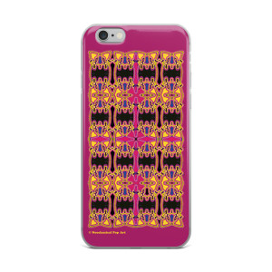 Leonardo da Cinci sacred rose cross geometric art iphone cover