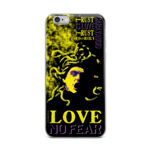 Neoclassical pop art Cravaggio Yellow Medusa iphone case for sale