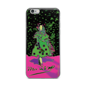 Eduard Manet lola de valence Neoclassical Pop Art green pink collectible iPhone cases