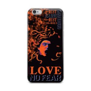 Neoclassical pop art Cravaggio orange Medusa iphone case for sale