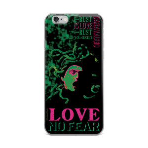 Neoclassical pop art Cravaggio self portrait green Medusa iphone case for sale