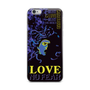 Neoclassical pop art Cravaggio purple Medusa iphone case for sale