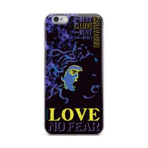 Neoclassical pop art Cravaggio purple Medusa iphone case for sale