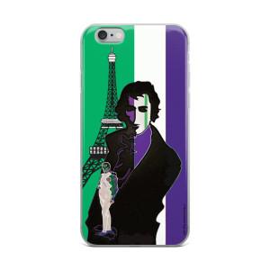 on sale Neoclassical pop art Lime Green purple eiffel tower  napoleon Jacques-Louis David iphone case
