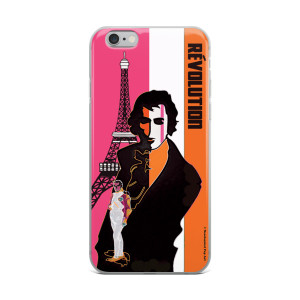 on sale Orange pink eiffel tower  napoleon Jacques-Louis David iphone case
