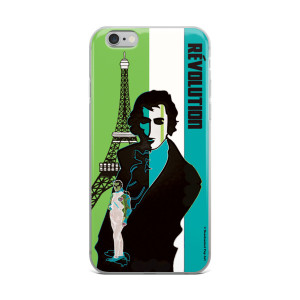on sale Lime Green Turquoise eiffel tower  napoleon Jacques-Louis David iphone case