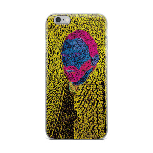 neoclassical pop art van gogh yellow pink blue self-portrait iphone cases