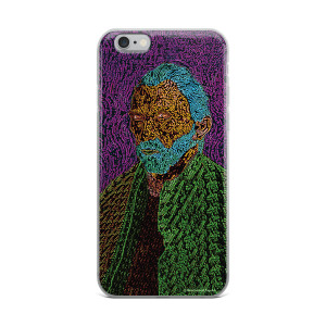 collectible purple blue green Van Gogh self portrait  neoclassical pop art iPhone case