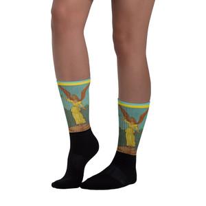 Fun Sandro Botticelli Neoclassical pop art angel art socks