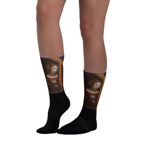 Cranach bronze  Neoclassical pop art Cristian Cross Art Socks for sale online