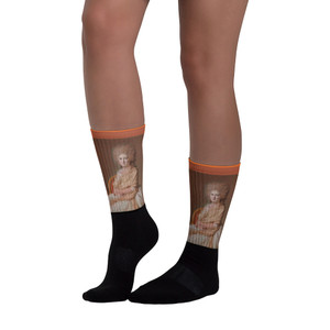Jacques-Louis David Pink burnt orange portrait Museum Art Socks