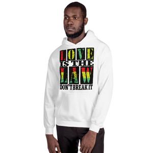 Rastafari Love is The Law Unisex Hoodie by Neoclassical Pop Art