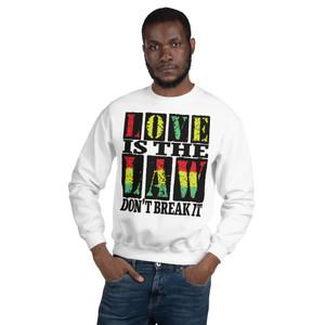 Buy Rastafari Love is the law Unisex Sweatshirt  by Neoclassical Pop Art