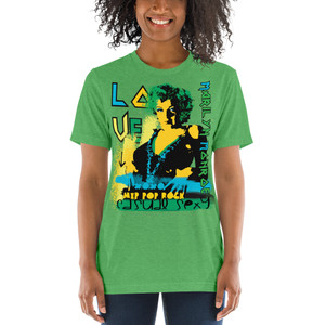 green Marilyn Monroe Love Casual Sexy Short sleeve t-shirt by Neoclassical pop art