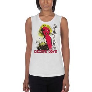 buy online Marilyn Monroe Yellow Red Desire Love Ladies' Muscle Tank  by Neoclassical pop art