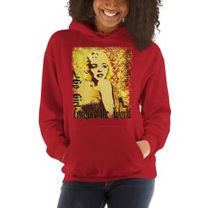 Marilyn Monroe Go Girl red Unisex Hoodie by Neoclassical Pop Art
