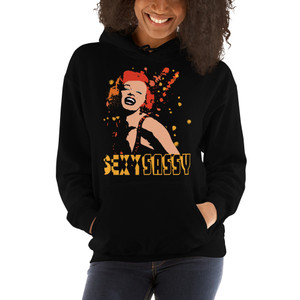 collectible sexy sassy marilyn monroe art print hoodie by neoclassical pop art