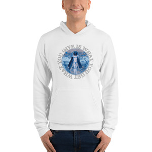 Leonardo Da Vinci What You Give Is What You Get Unisex hoodie for sale by Neoclassical Pop Art designer brand online store