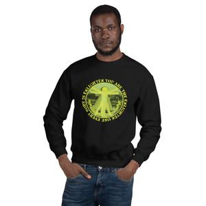 Leonardo da Vinci Da Vinci Everybody is Enlighten Unisex Sweatshirt by Neoclassical pop art designer online store