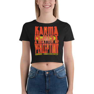 on sale Spiritual Karma Women's Crop Tee by neoclassical pop art