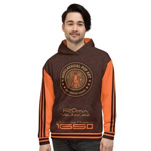 On sale Velázquez orange brown designer Unisex Hoodie by Neoclassical pop art